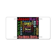 Team General Hospital Aluminum License Plate