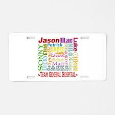 Team General Hospital Aluminum License Plate