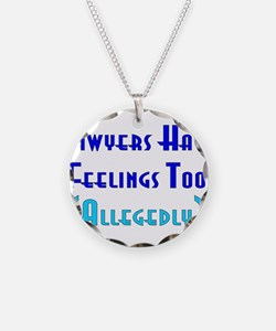 Anti-Lawyer Humor Necklace Circle Charm