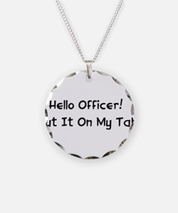 Hello Officer! Necklace Circle Charm