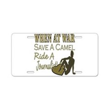 Save A Camel Aluminum License Plate