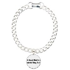 Closed Minds Charm Bracelet, One Charm