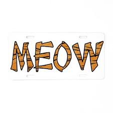 Kitty Cat Aluminum License Plate
