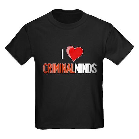 I Love Criminal Minds Kids Dark T-Shirt
