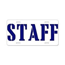 Staff t-shirt Aluminum License Plate