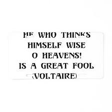Wise Fool Aluminum License Plate