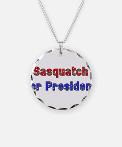 Sasquatch For President Necklace