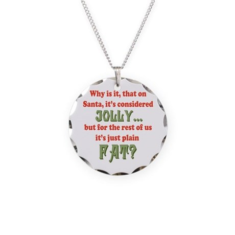 On Santa, It's Jolly Necklace Circle Charm