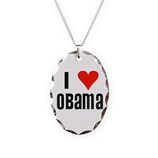 I Heart Obama Necklace Oval Charm