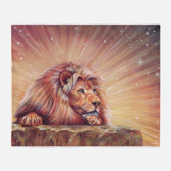 Dawn Lion Throw Blanket