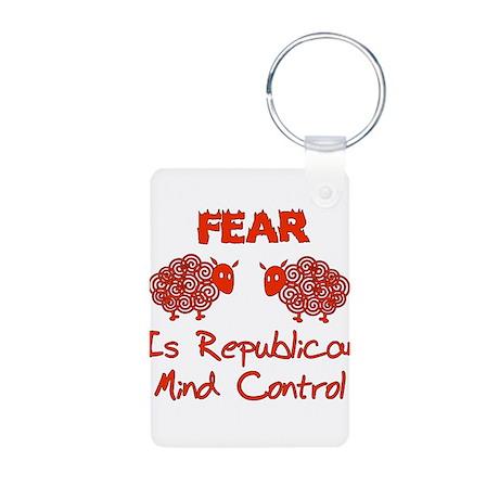 Fear Politics Aluminum Photo Keychain