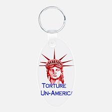 Torture Is Un-American Keychains