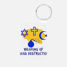 Religion Mass Destruction Keychains