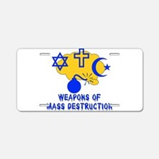 Religion Mass Destruction Aluminum License Plate