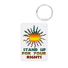 Stand Up For Your Rights Keychains