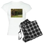 Bench in the Forest Women's Light Pajamas