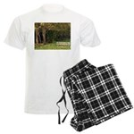 Bench in the Forest Men's Light Pajamas