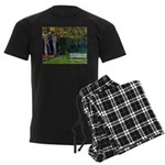 Bench in the Forest Men's Dark Pajamas