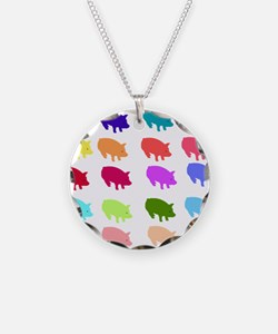 Rainbow Pigs Necklace