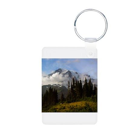 Mt. Rainier #3 Aluminum Photo Keychain