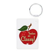 Classy Teacher Aluminum Photo Keychain