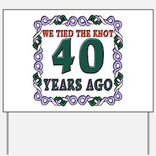 40th Wedding Anniversary Yard Sign