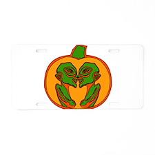 Halloween Aliens Aluminum License Plate