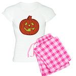 Grinning Halloween Pumpkin Women's Light Pajamas