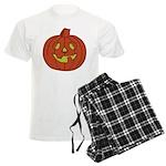 Grinning Halloween Pumpkin Men's Light Pajamas