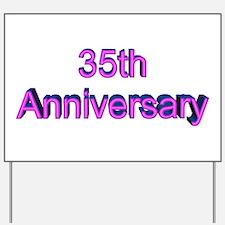 35th Wedding Anniversary Yard Sign