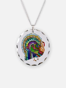 Patchwork Thanksgiving Turkey Necklace