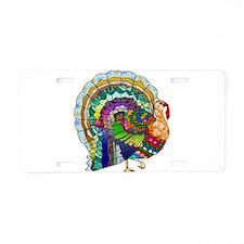 Patchwork Thanksgiving Turkey Aluminum License Pla
