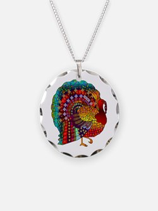 Thanksgiving Jeweled Turkey Necklace