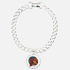 Thanksgiving Jeweled Turkey Bracelet