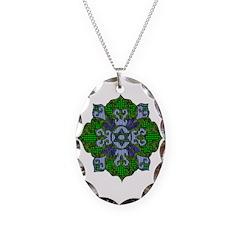 Green Hanukkah Mandela Necklace