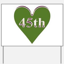 45th Wedding Anniversary Yard Sign