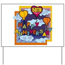 50th Wedding Anniversary Yard Sign