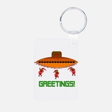 Space Aliens Christmas Keychains