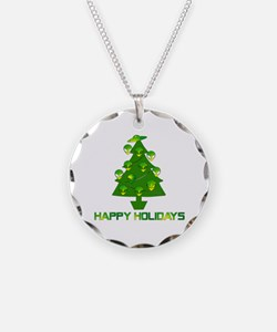 Alien Christmas Tree Necklace