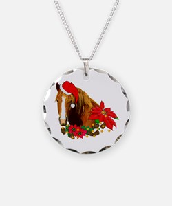 Christmas Horse Necklace