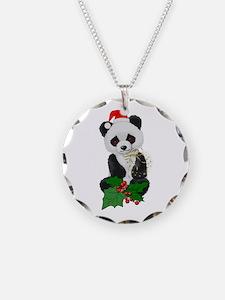 Christmas Panda Necklace