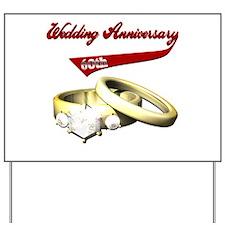 60th Wedding Anniversary Yard Sign
