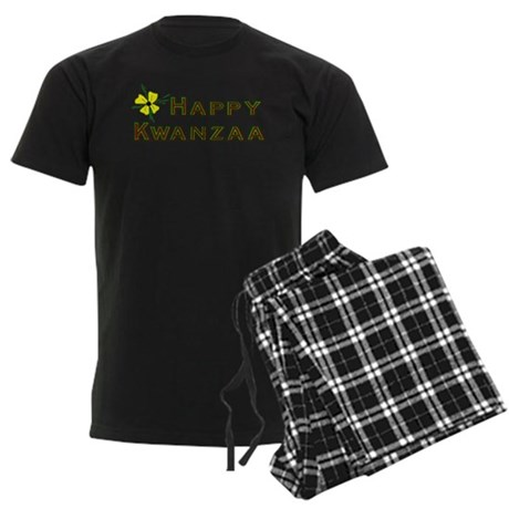 Happy Kwanzaa Men's Dark Pajamas