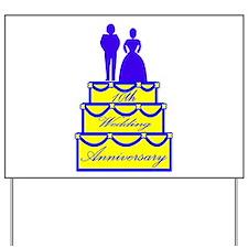 10th Wedding Anniversary Yard Sign