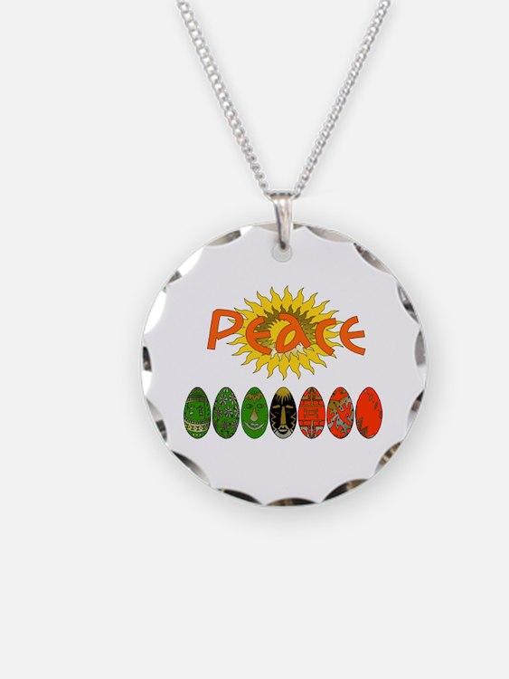 Kwanzaa Peace Shirts Necklace Circle Charm