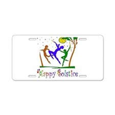 Winter Solstice Dancers Aluminum License Plate