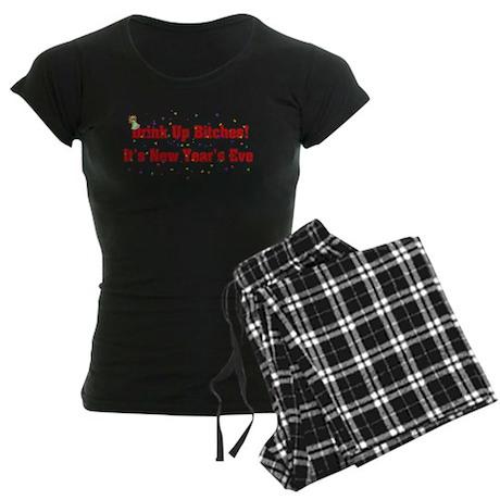 Drink Up Bitches New Year Women's Dark Pajamas