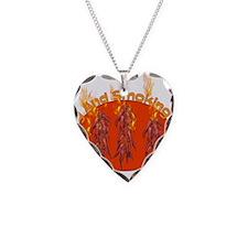 50th Birthday Hottie Necklace Heart Charm