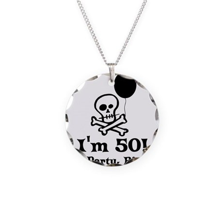 50th Birthday Party Necklace Circle Charm