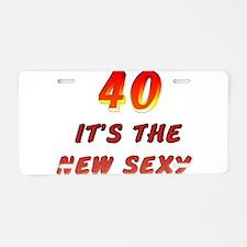40th Birthday Aluminum License Plate